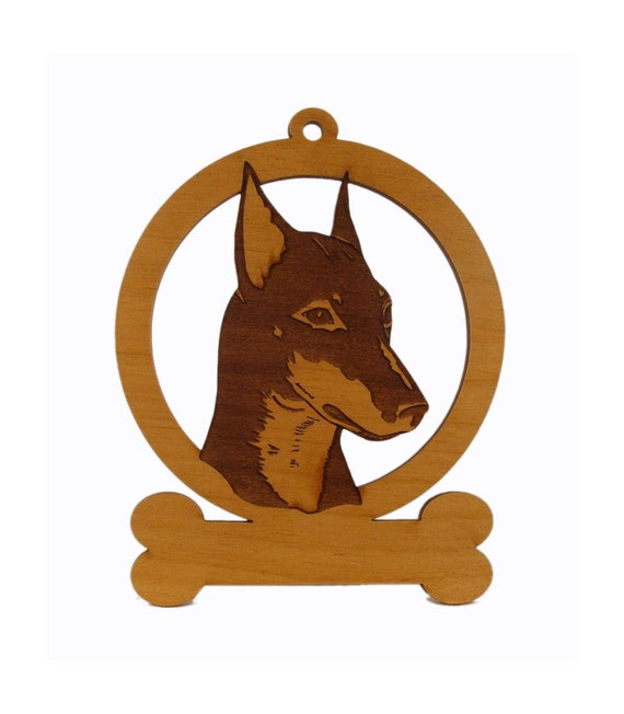 Standard Manchester Dog Ornament 084138 Personalized With Your Dog's Name