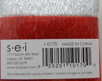 SEI Summer Party Trim - Scrapbook Embellishment - Red and Silver Trim