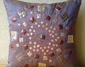Decorative Pillow Sham Cover Accent Pillow Couch Sham Cover 24x24 Inch silk Pillow Sham Cover Textured Sequins Purple CartWheel Home Decor