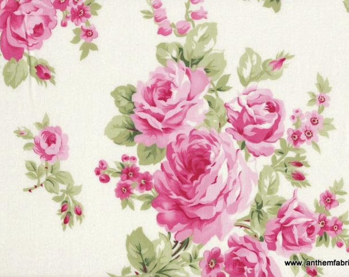 Tanya Whelan - Barefoot Roses Legacy - Bouquet TW53 White, by the half yard