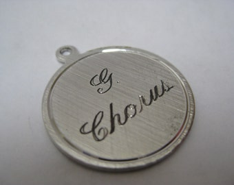 G Chorus Sterling Silver Charm Vintage 925