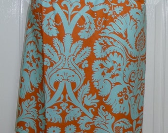 A-line SKIRT - Amy Butler - Belle - Acanthus - Made in ANY Size - Boutique Mia