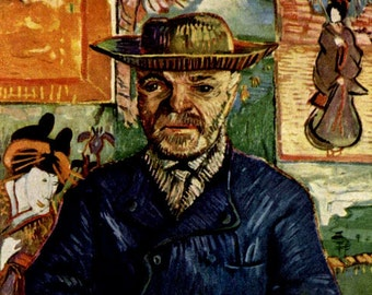Pere Tanguy by Vincent Van Gogh - a Frameable Vintage 1952 Art Print