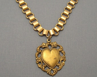 Bookchain Necklace Heart Victorian Revival N5544