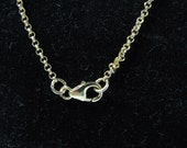 Gold 2mm Rolo Chain, 36 INCH Necklace with Lobster Clasp, Strong Goldfilled Rolo Chain Necklace for layering, charms and pendants