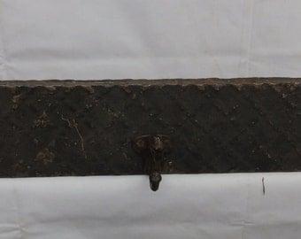 "Antique Tin Ceiling Tile Coat Hat Jewelry Hanger Hook Rack 23"" S- 2082-14"
