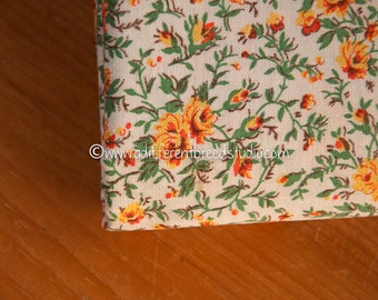 Little Yellow Roses  - Vintage Fabric 50s 60s 37 in wide New Old Stock Shabby Chic Cottage Floral
