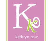 Personalized Children note cards  custom personalized notecards personalized stationery  girl note cards monogram cards,