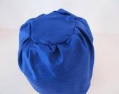 Silk hat liner for millinery - royal blue color