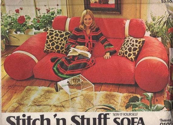 Butterick 0102 1970s Stitch N Stuff Sofa Pattern Vintage