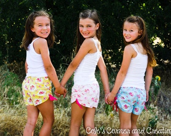 Too Cute Ruched Shorts Pattern (sizes 2-8)