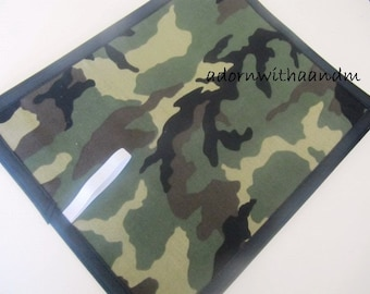 Chalkimamy Camouflage TRAVEL chalkboard mat placemat (a)