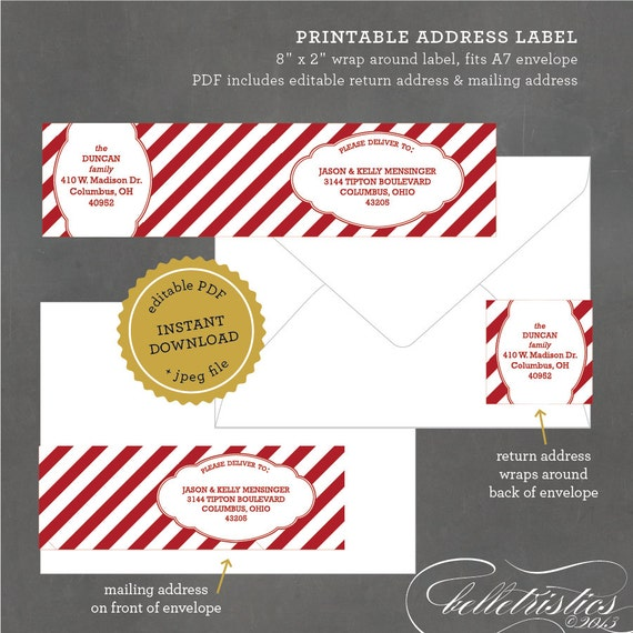 20 gallery images for printable christmas mailing labels
