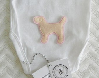 Yellow Lab Bodysuit - It's a Daughter!