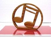 Music Notes Sign Shelf Sign Word Art Wood Trivet