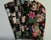 Eyeglass/Sunglass Case your Choice Skulls, Tikki and Tropical Florals also Available