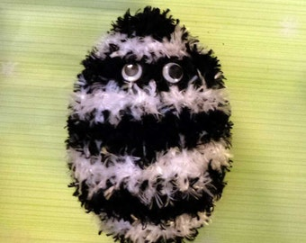 Black and White Stripe Soft Easter Egg Doll