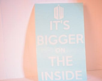 It's Bigger on the Inside Precision Cut Vinyl Car Window Decal Sticker for Doctor Who Fans TARDIS