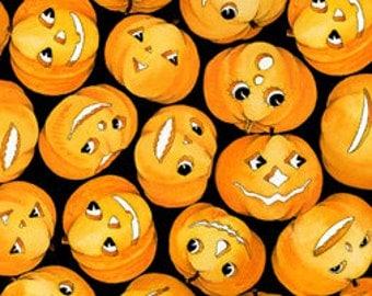Halloween Fabric Creepers Peepers Pumpkins Halloween Fabric 1/2 Yard