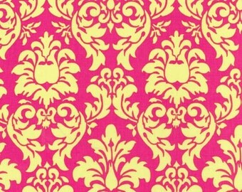 Sale Fabric Michael Miller Dandy Damask in Watermelon 1/2 yard