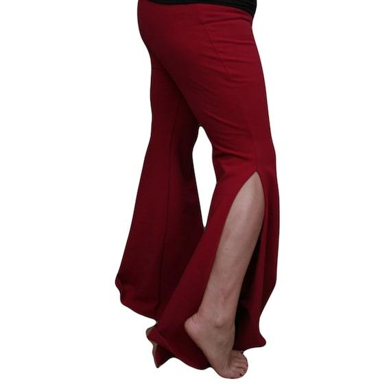 Clearance Bell Bottom Pants Bellydance Yoga Raspberry small/medium