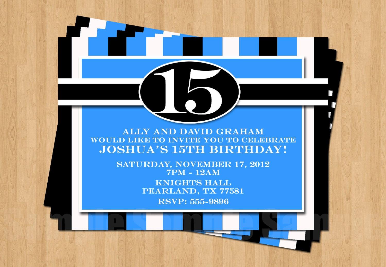 13th 15th 16th Birthday Boy or Any AGE Adult Birthday Party