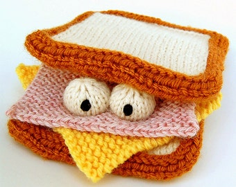 Sammich Amigurumi Sandwich Plush Toy Knitting Pattern PDF Instant Download