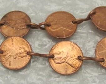 Coin Charm Bracelet - USA Penny Bracelet.