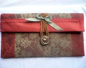 Jewelry Bag.. Cosmetic Pouch... Chocolate ...Hand Made...Cotton...Cosmetic Storage Pouch