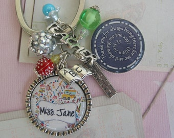 Personalized Teachers Keychains, end of year gifts