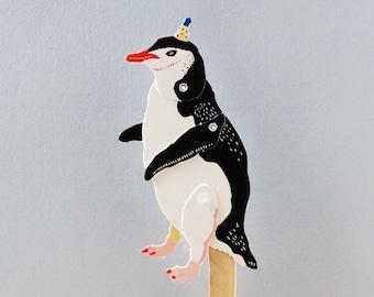 DIY Paper Puppet - Penguin