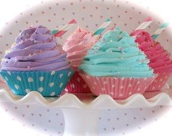 Candy Land Fake Cupcakes Set of 6  Fake Cupcakes Candy Land Birthday Decor Birthday Photo Props Kitchen Decor