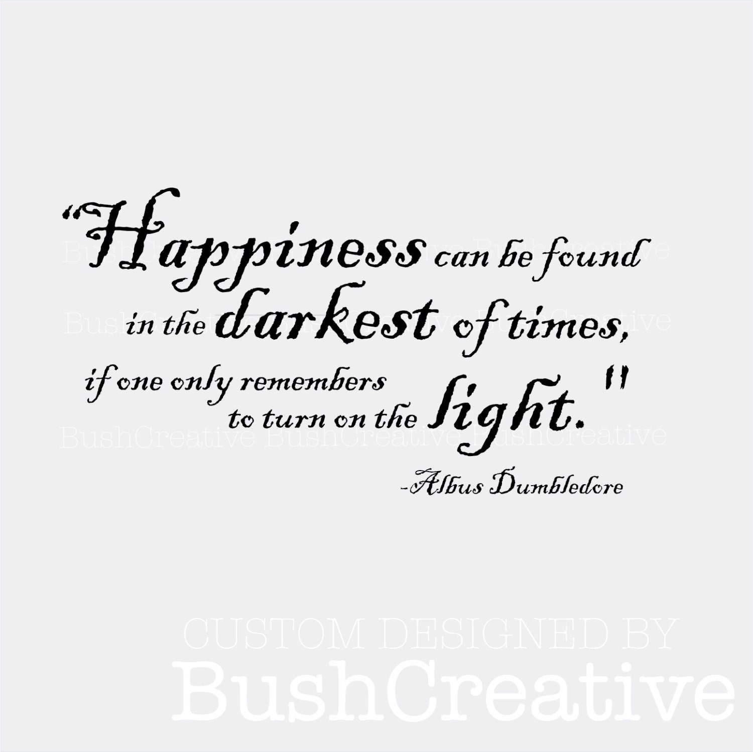 Happiness Can Be Found In The Darkest Of Times Quote: Wall Decal Harry Potter Happiness Quote By Dumbledore 003