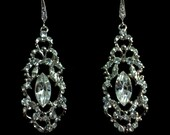 Art Deco Earrings, Victorian Wedding, Gold Earrings, Silver Jewelry, Damask Bridal Accessories, VICTOR