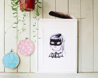 Cat Girl *SPECIAL* (minus lip ring) - Art Print - A4 Size