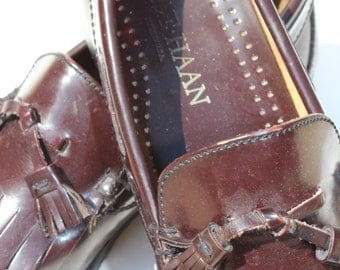 Vintage Cole Haan Tassel Loafers With Kiltie Cordovan