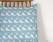 Song Bird square cushion cover in Dove Blue