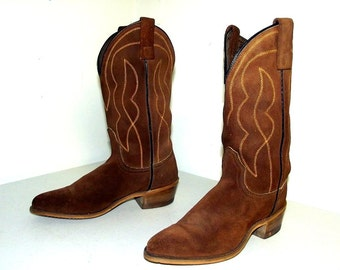 Vintage cowboy Boots - Acme brand - brown - size 5 C - western wear