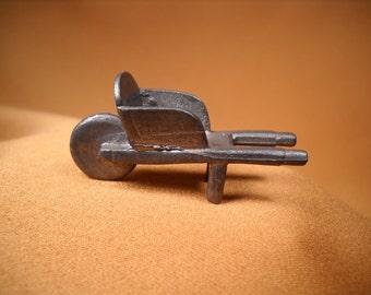 PEWTER WHEELBARROW aka WHEEL Barrel, Miniature wheelbarrel, WheelBarrow made of Pewter,tiny pewter wheelbarrow, Mini Wheelbarrow, Pewter co