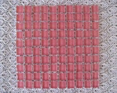 Deep Pink Crystal Glass Squares Deep Pink Mosaic Tile Glass 10MM (3/8 inch) Mosaic Tiles Set of 100 Mosaic Suppies Pink Glass for Mosaics