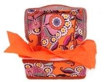 Vintage Orange and white flower 3 piece set Baby Gift Basket best unisex baby shower gift ultimate handmade present