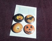 "Set of four 1"" pinback buttons"