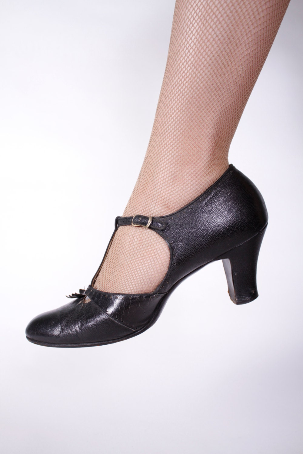 1930s vintage shoes black leather t gatsby shoes with