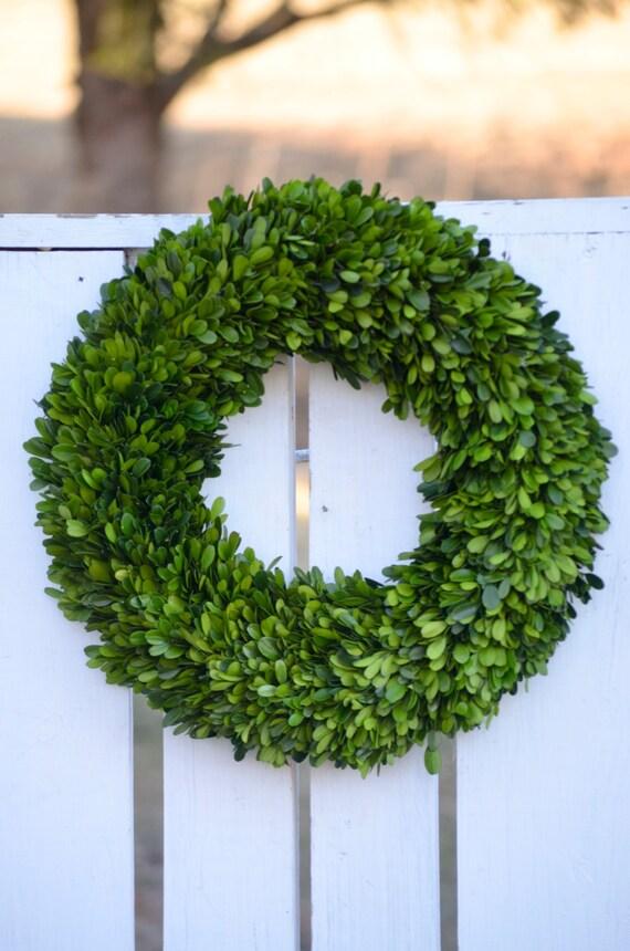 Preserved boxwood wreath spring wreath winter wreath boxwood wreath