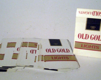 Vintage Playing Cards - Old Gold Lights Playing Cards - Cigarette Advertising Playing Card Deck - Poker Cards