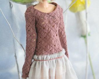 jiajiadoll- violet lace layer dress fit momoko or misaki or blythe pullip