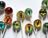 Spooky eyes Halloween lollipops - 6 pc. - made to order