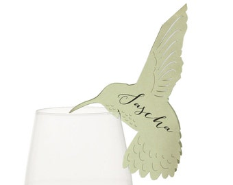 Hummingbird Place Cards - wedding, escort card, table number, seating chart, marriage, anniversary, birthday, baptism, outdoor, reception