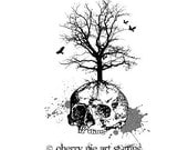 DEAD TREE - CLiNG RuBBer STAMP by Cherry Pie Art Stamps - Goth death