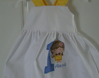 Personalized Birthday Dress for your sweet baby girl